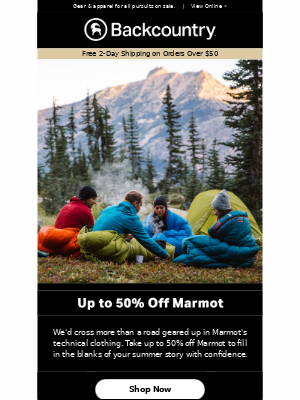 Score up to 50% Off Marmot