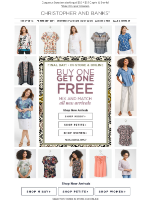 Don't Miss This! Newest Styles Are BOGO Free!