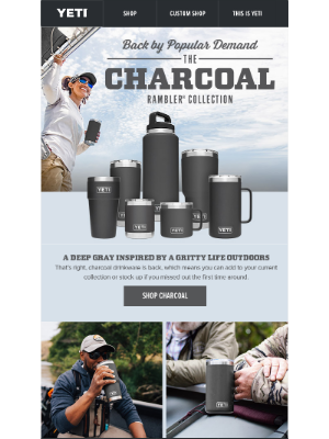 It's Back: Charcoal Drinkware