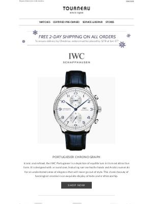 Tourneau - Make the IWC Schaffhausen Portugieser Your Next Timepiece