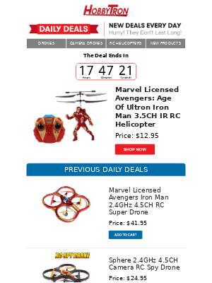 $12.95 -Marvel Licensed Avengers: Age Of Ultron Iron Man 3.5CH IR RC Helicopter