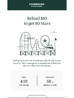 Get 50 Stars just for reloading $10
