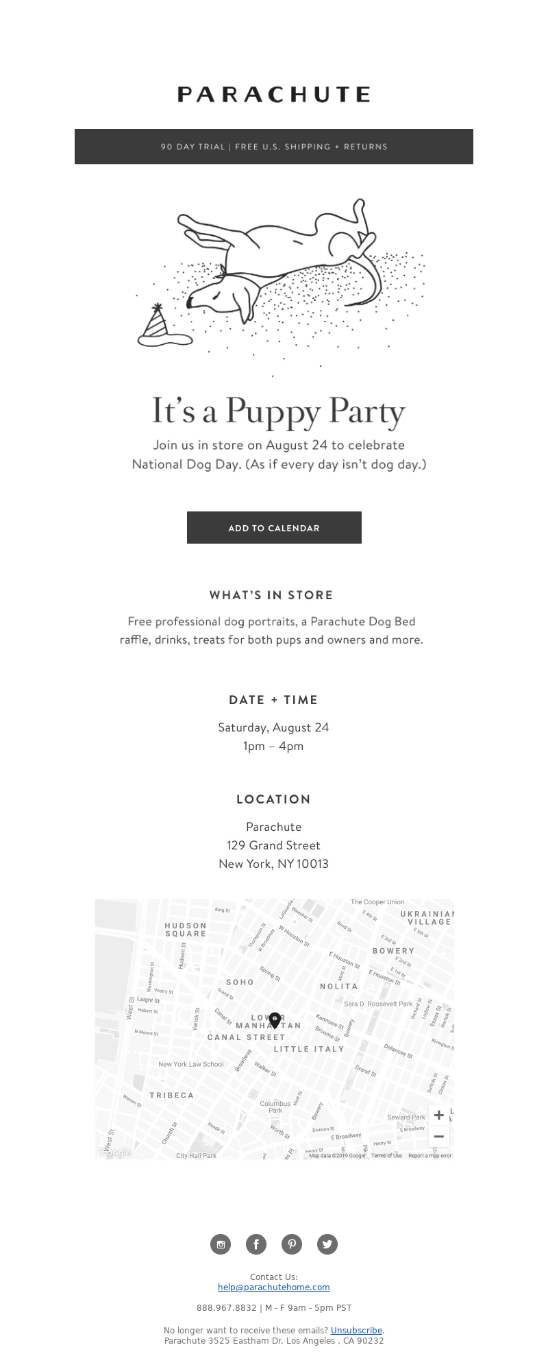 Parachute Home - You're Invited: Parachute Puppy Party