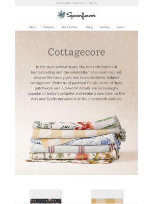 Spoonflower - The cottagecore trend (and why we love it)