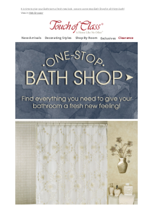 Touch of Class - Give your Bathroom a fresh new look!