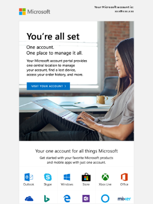 Congrats! Your Microsoft account is waiting