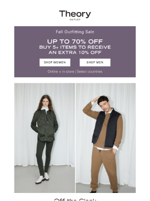 Theory - Your Weekend Uniform is Up to 70% Off