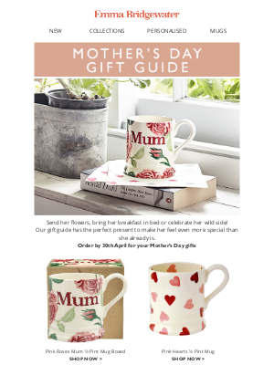 Emma Bridgewater (UK) - 💖Mother's Day presents for the perfect mom💖
