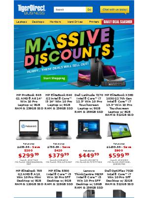 TigerDirect - Huge Discounts! $149 HP EliteDesk | $299 HP ProBook