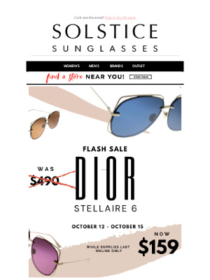 Solstice Sunglasses - Dior Stellaire 6 Flash Sale... Now $159! 2 days only!