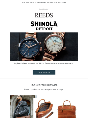REEDS Jewelers - It's here—the latest from Shinola