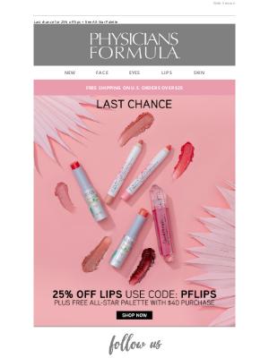 Physicians Formula - Lip Sale Ends Soon!