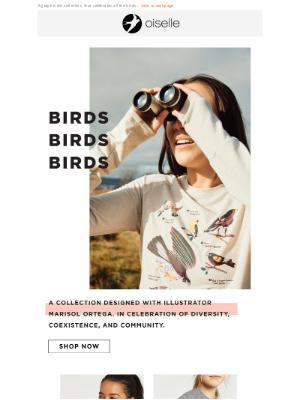 Oiselle - New! Birds on Birds!