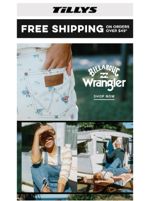 Tillys - 👍 Billabong x Wrangler Collection Is Here