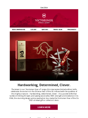 Victorinox - Hardworking, Determined, Clever. | Celebrate the 2021 Huntsman Year of the Ox