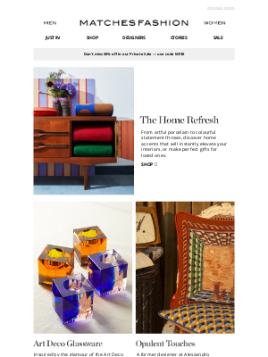 Matches Fashion (UK) - Six ways to elevate your interiors