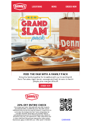 Denny's - Now Save 20% on Your Diner Faves!