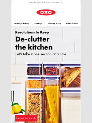 OXO - Organize your kitchen: Resolutions to Keep
