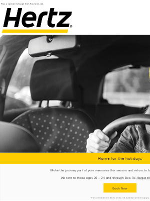 Hertz - Make it home safely this holiday