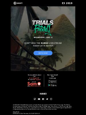 Today's UBIE3 Livestream: Trials Rising