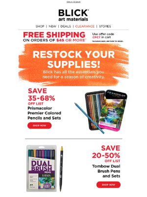Blick Art Materials - Super prices – stock up on the essentials!