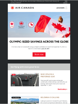 Air Canada - Celebrate our Olympians with a world of savings!