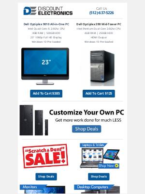Discount Electronics - $385 Dell i5 23