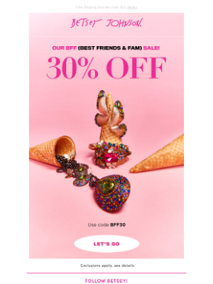 Betsey Johnson - THE BFF SALE 👯‍♀️