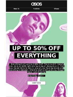 ASOS (UK) - Up to 50% off *everything* 🤩