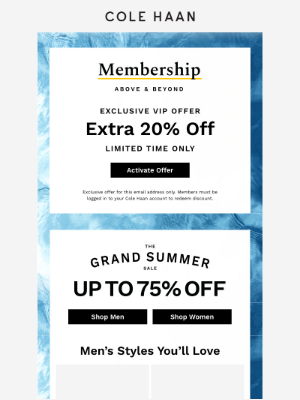 VIPs: Enjoy this exclusive offer.