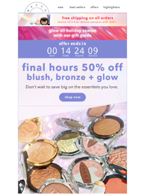 BECCA Cosmetics - Last Day To Save 50%