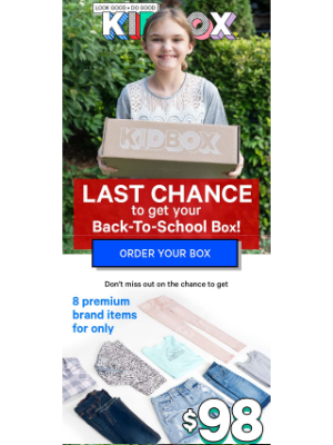 KIDBOX - FINAL HOURS: Back-To-School Deal Ends Tonight!