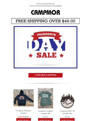 Campmor - Presidents Day Sale is Happening