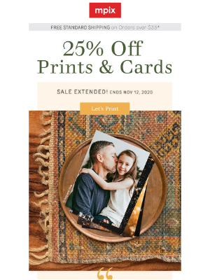 Mpix - 🙌Extended - 25% off Prints & Cards