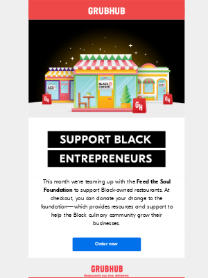 GrubHub - Support the Feed the Soul Foundation