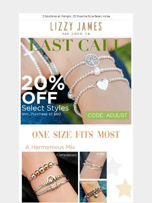 ⏳ 20% Off Adjustable Bracelets SALE Ends Tonight...