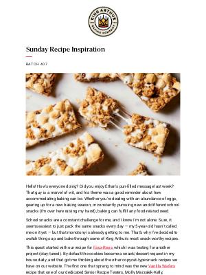 King Arthur Flour - Bake-able, Crave-able Snacks!
