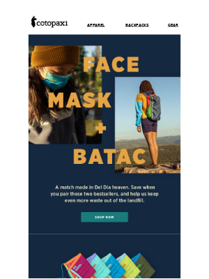 Our Newest Duo: Face Mask + Batac