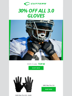 Cutters Sports - Easy As 1-2-3 😎 30% OFF All 3.0 Gloves