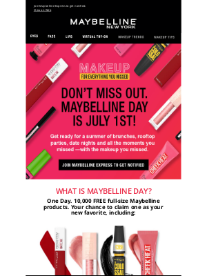 Maybelline - Maybelline Day: The countdown is on
