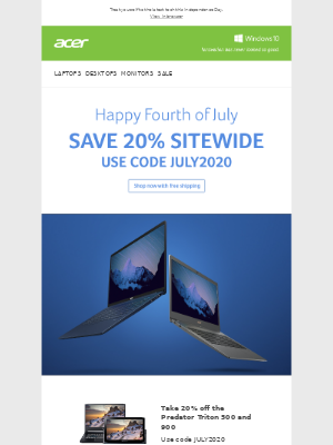 Acer - Final Days to Save 20% Sitewide. New Products Added!
