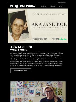 AKA Jane Roe – Watch The FX Original Documentary Tonight at 9PM