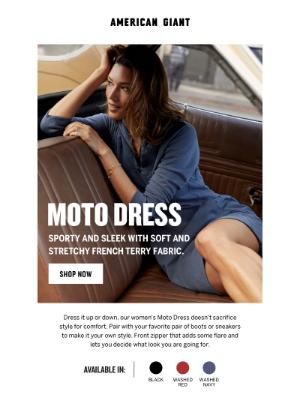 American Giant - Moto Dress: Summer street style