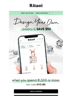 Ritani - Save $50: Design Your Own Earrings or Pendant