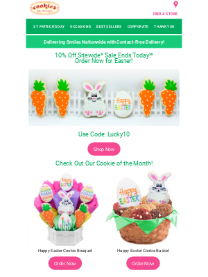 Cookies by Design - Cookie of the Month SALE– Happy Easter!