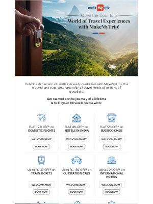 MakeMyTrip (India) - Welcome to MakeMyTrip