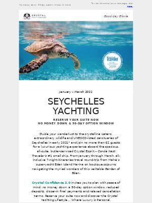 Crystal Cruises - Luxury Yachting in Seychelles: 2021
