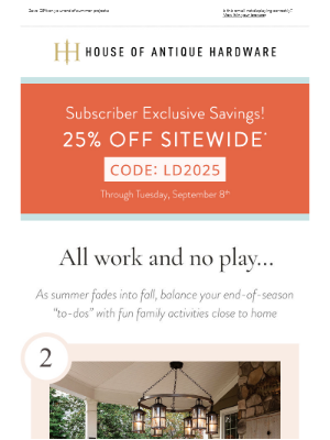 House of Antique Hardware - Fall Ready and Family Fun
