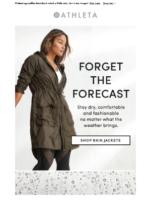 THESE rain jackets and Wander Pants have you covered