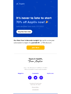 Aaptiv - ⏳Sales Ends TONIGHT! Get Aaptiv for $29.99.